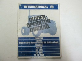 International IH Cargostar S- Série Transtar Paystar Propriétaire Opérateur - $24.78