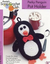 Perky Penguin Pot Holder Annie's Scrap Crochet Pattern/Instructions Leaf... - $2.67