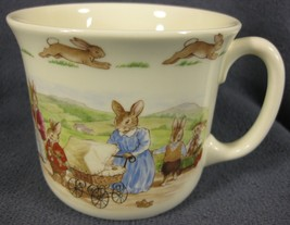 Royal Doulton Bunnykins Hug A Mug FAMILY WITH PRAM 1 Handled Bone China ... - $19.95