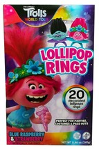 20ct Trolls World Tour Decorated Lollipop Rings Party Favor Candy New in Box image 2