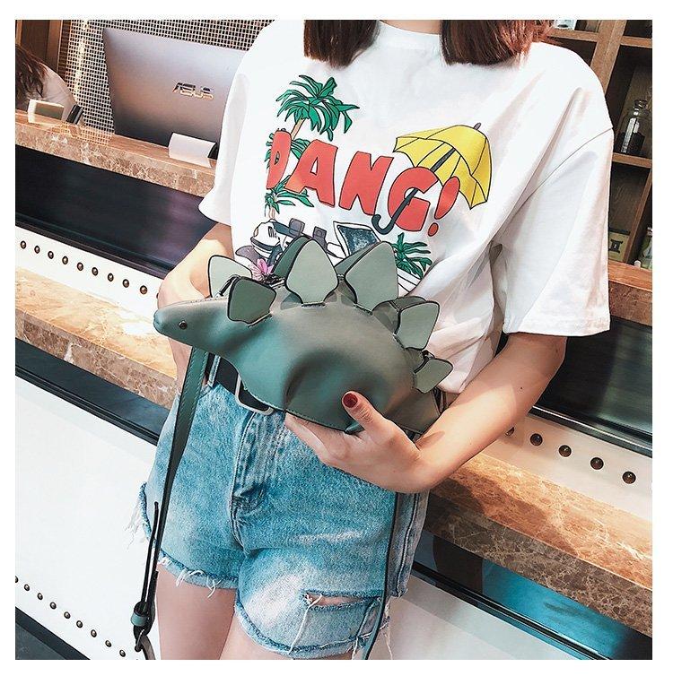 Kawaii Clothing Bag Dinosaur T-Rex Stegosaurus Tyrannosaurus Monster Harajuku