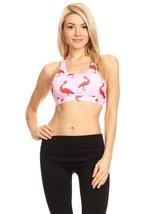 Women's Flamingo Printed Sports Bra - $34.99