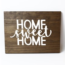 Home Sweet Home Solid Pine Wood Wall Plaque Sign Home Decor - $34.16