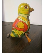 Vintage J. Chein & Co. Metal Tin Duck Wind Up Toy  Made In USA - $32.18