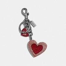 COACH HEART MIX BAG CHARM F40683 PINK/BLACK NEW RARE - $39.99