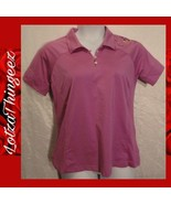 Adidas Climacool Golf Polo L Womens Pink Floral - $15.84