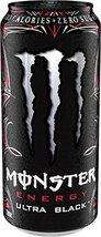 Monster Energy Ultra Energy Drinks 6 - 16oz Cans (Ultra Black) - $28.45