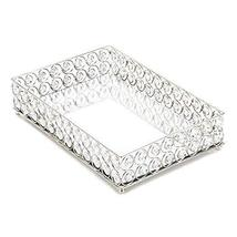 Accent Plus Tray For Jewelry, Shimmer Decorative Table Display Modern Crystal Tr - $40.99