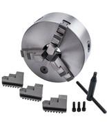 "Silver 3Jaw Lathe Chuck Self-Centering Milling 6"" 45mm Internal External... - $129.69"