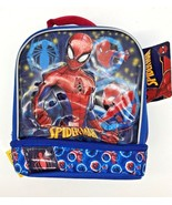 Marvel Ultimate Spider-Man 3-D Lunch Box Lunch Kit w/Drop Bottom & Padde... - $14.79