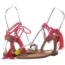 Circus by Sam Edelman Binx5 Toe Ring Lace Up Sandals 112, Saddle, 6.5 US / 36.5 - $20.15