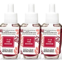 Bath and Body Works 3 Pack 'Tis the Season Wallflowers Fragrance Refill. 0.8 fl- - $22.95