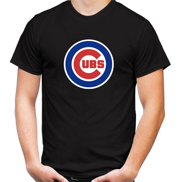 Primary image for Chicago Cubs Tshirt Black Color Short Sleeve Size S-3XL