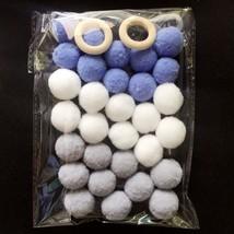 2cm Handmade Kids Room Wall Wool Felt Balls Home Decor Ornament Hanging ... - $6.30