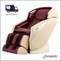 Osaki OS-Pro Omni Burgundy L-track Zero Gravity Massage Chair Heat White... - $3,699.00
