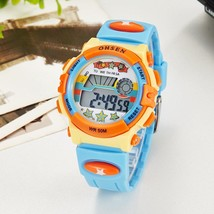 Original OHSEN Brand Kids Boys Digital LCD Wristwatch Gifts Blue Rubber ... - $26.22