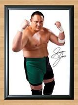 Samoa Joe Nuufolau Seanoa WWE Signed Autographed A4 Print Poster Photo wwf ufc 2 - $9.95