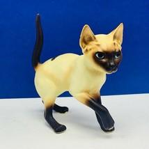 Cat Kitten Josef Originals Japan figurine Siamese vtg mcm sculpture tail... - $28.89