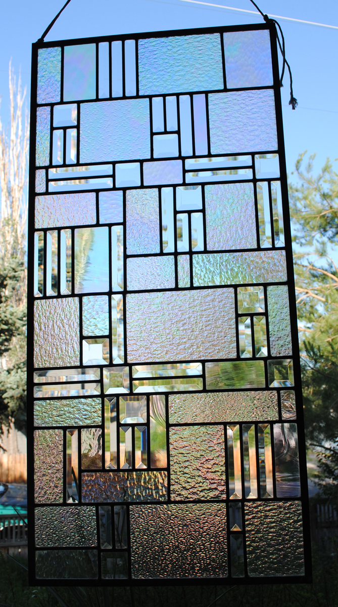 Stained Glass Clear Bevels and Clear Iridized Textures