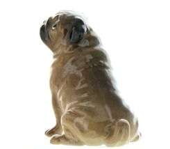Hagen Renaker Pedigree Dog Pug Large Tan Ceramic Figurine image 3