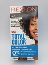 Revlon Total Color Nourishing Cream Formula Hair Color Vegan - #30 DARKEST BROWN - $8.41