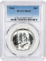 1964 50c PCGS MS65 - Kennedy Half Dollar - $33.95