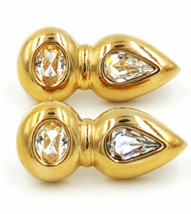 Swarovski Vintage Crystal Earrings   Signed SAL  Pierced   Retro Abstrac... - €32,09 EUR