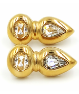 Swarovski Vintage Crystal Earrings   Signed SAL  Pierced   Retro Abstrac... - £30.62 GBP