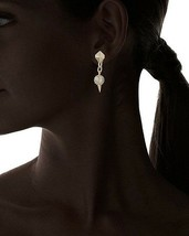 NEW Fragments Gold Plated Pave Crystal Pyramid with Fireball Drop Earrings image 2