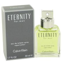 ETERNITY by Calvin Klein Eau De Toilette Spray 1.7 oz (Men) - $32.38