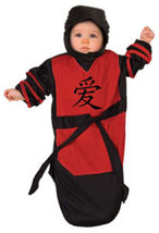 Ninja Baby Bunting Halloween Costume Size 0-9 Months  - $19.00