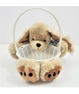 Stuffed Puppy Easter Basket Plush Animal Dog Kids Toy  - $23.04
