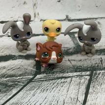 Littlest Pet Shop LPS Lot Twin Rabbits Bunnies Duck Hamster - $14.84
