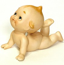 VTG Porcelain Bisque Baby Crawling Yoga Kewpie Enterprise Exclusive Figu... - $34.64