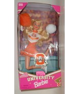 Mattel Barbie Doll Oklahoma St University Cheerleader 1997 orange white ... - $47.77