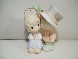Precious Moments 2001 Our First Christmas Together Porcelain Ornament #878855 - $12.69