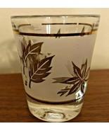 Libbey Gold Foliage Single Shot Glass Vintage MCM Iconic Leaf Design - $9.99