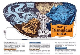 1965 Disneyland Map Poster   24 X 36 Inch   Awesome! - $18.99