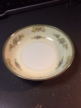 Meito China 7.25  Inch Saucer  Salad bowl Floral pattern gold trim - $15.00