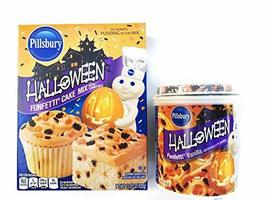 HALLOWEEN PILLSBURY FUNFETTI CAKE MIX AND Halloween FUNFETTI VANILLA FRO... - $18.31
