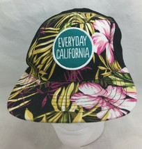 Everyday California Baseball Hat Black Floral Snapback  - $34.65