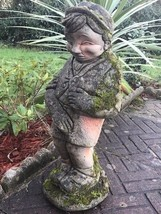 Reclaimed Large Old Style Stone Belgium Peeing Boy Fountain Spout Water ... - $668.00