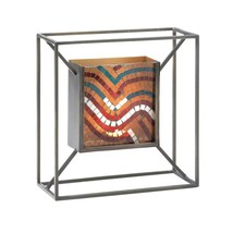 #10017594 *Mosaic Waves of Colors Square Candle Wall Sconce* - $43.88 CAD