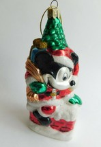 """Large Mickey Mouse Mouth Blown Disney Licensed Christmas Ornament 6 1/4"""" - $15.47"""
