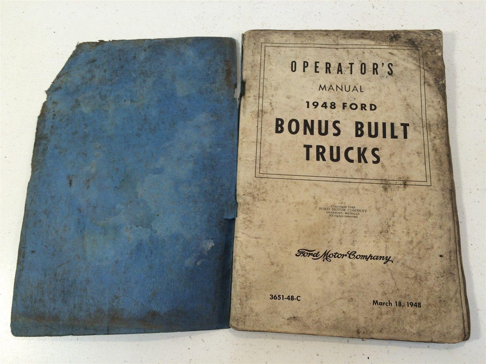 1948 Ford Bonus Built Trucks Operator's Manual 3651-48-C OEM Original