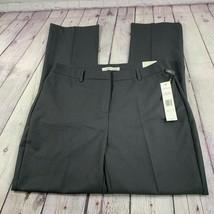 NWT Larry Levine Women's Slim Full Length Work Pants Gunmetal Heather Sz... - $48.22