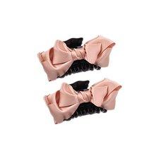 2Packs Handmade Satin Bow-knot Jaw Clip Elegant Hair Claws, Light Pink - $12.07