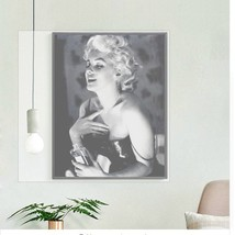 Vintage Marilyn Monroe Home Decor Black And White Ink Jet Canvas Wall Painting