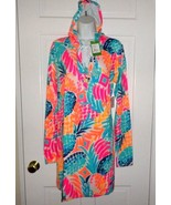 2d4a37a8edce0d NWT LILLY PULITZER MULTI GOOMBAY SMASHED UPH 50 + RYLIE COVERUP DRESS L -  $89.09