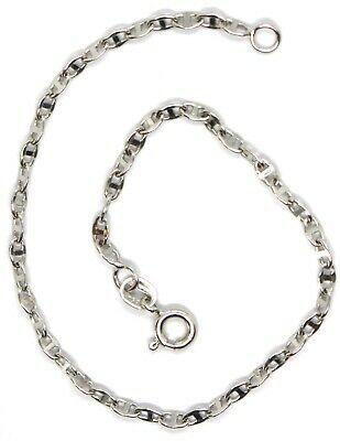 Bracelet White Gold 18K 750, Jersey Marina, Marinara, Crosspiece Criss Crossed image 3